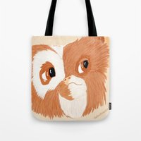 gizmo Tote Bags featuring Gizmo by ItalianRicanArt