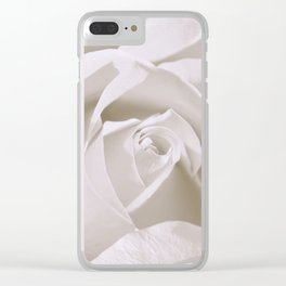 White Rose 0153 Clear iPhone Case