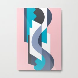 SUISSE - Art Deco Modern: MIAMI DECO Metal Print