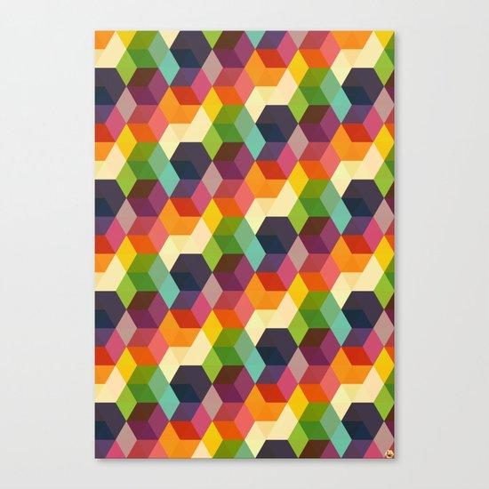 Retro Hexagonzo Canvas Print