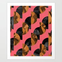black and gold Art Prints featuring gold,black by Georgiana Paraschiv