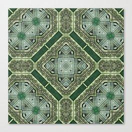 Victorian Art Deco Medieval Pattern SB40 Canvas Print