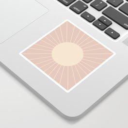 Minimal Sunrays - Neutral Pink Sticker