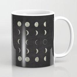 Moon Phases on Black Sky Coffee Mug