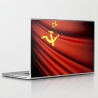 soviet Laptop & iPad Skins featuring Flag of Soviet Union (1922-1991) by Lulla