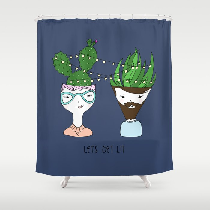 Let's Get Lit Shower Curtain