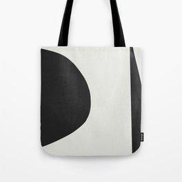Minimal Black Tote Bag