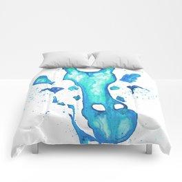 Giraffe Face Drip Comforters
