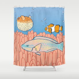 Fish Day Shower Curtain
