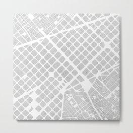 Barcelona map concrete Metal Print