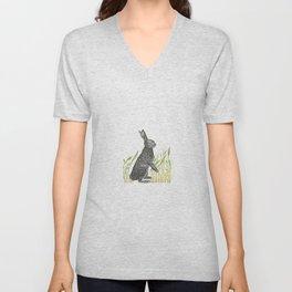 Spring Bunny Rabbit Unisex V-Neck