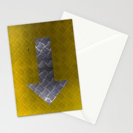 Industrial Arrow Tread Plate - Down Stationery Cards