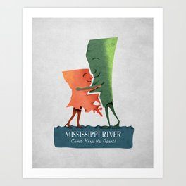 Louisiana Woman, Mississippi Man Art Print
