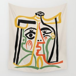 Picasso - Woman's head #1 Wall Tapestry