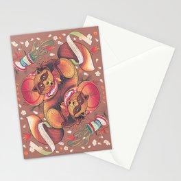 Tanuki Tumble Stationery Cards