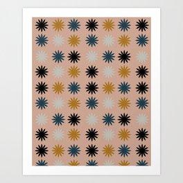 Flower Shapes Pattern Art Print
