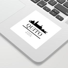 QUITO ECUADOR BLACK SILHOUETTE SKYLINE ART Sticker