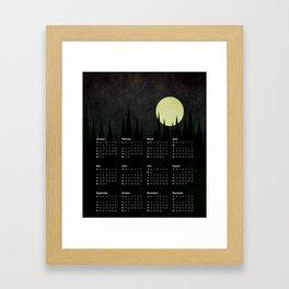 2017 Calendar A Moonlit Forest Framed Art Print