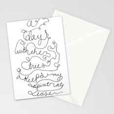 a day with the trees Stationery Cards
