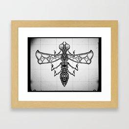 The Bug Framed Art Print
