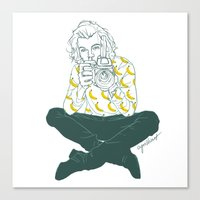 cyrilliart Canvas Prints featuring Banana Boy by Cyrilliart