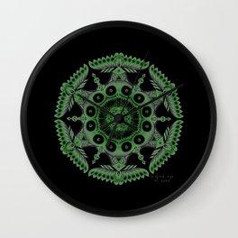 Mandala ~ Peace for Nepal (Healing Green) Wall Clock