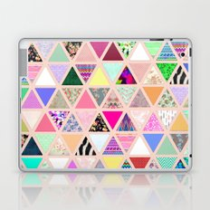 Vintage Abstract Floral Triangle Pastel Patchwork Laptop & iPad Skin