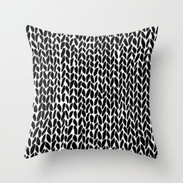 Hand Knit Zoom Throw Pillow