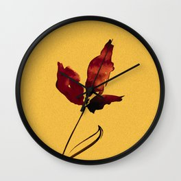 Floral Abstract No.2s by Kathy Morton Stanion Wall Clock