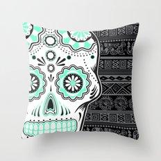 calavera mexicana Throw Pillow