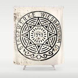 Manhole Cover Shower Curtain