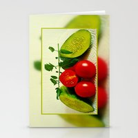 vegetables Stationery Cards featuring Juicy Vegetables by Art-Motiva