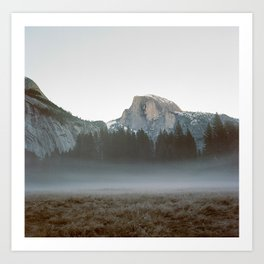 Morning Mist, Yosemite Art Print