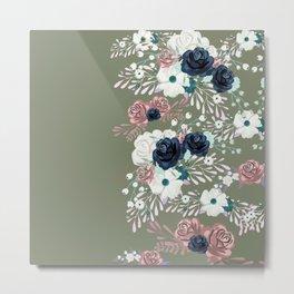 Plants watercolor Metal Print