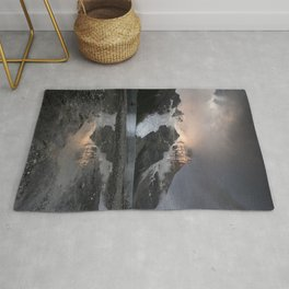 Sunrise in the mountains Rug