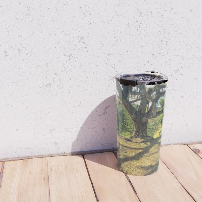 Tire Swing in a Tropical Place Travel Mug