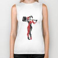 harley quinn Biker Tanks featuring Harley Quinn by Ayse Deniz