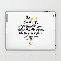 The Heart Of A Heart Laptop & iPad Skin