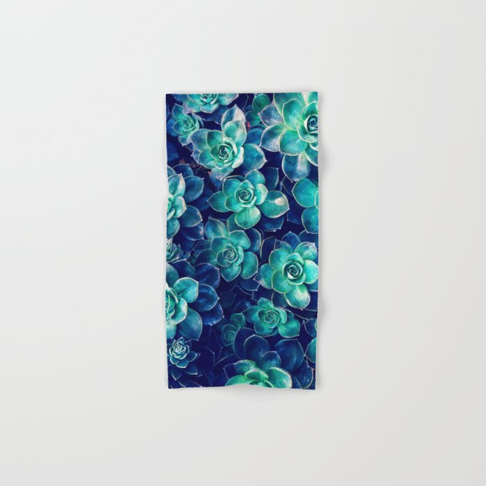 Plants Of Blue And Green Hand Amp Bath Towel By