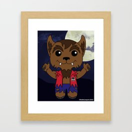 Mischievous Monsters - Wolfie Boy Digital Framed Art Print