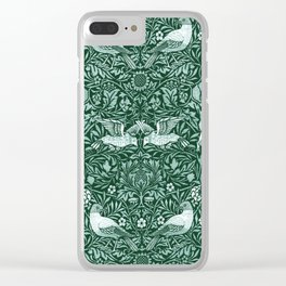 "William Morris ""Birds"" 6. Clear iPhone Case"