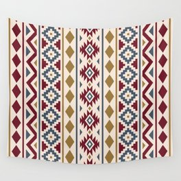 Aztec Essence Ptn III Red Blue Gold Cream Wall Tapestry