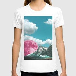 cloudy skies and magenta moons T-shirt