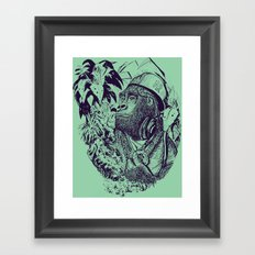 jungle kong Framed Art Print