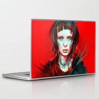 large Laptop & iPad Skins featuring Wasp by Alice X. Zhang