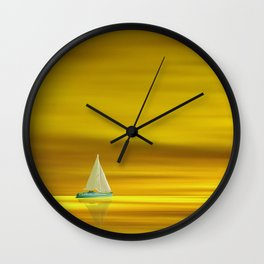 Golden Sunset in the Florida Keys Wall Clock