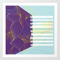 good vibes Art Prints featuring GOOD VIBES by Urban Artist