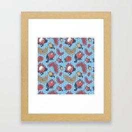 Australian Native Flowers - Grevillea and Protea Framed Art Print