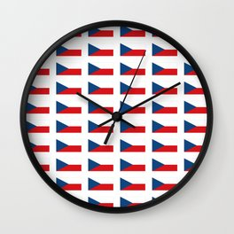 flag of Czech -Czechia,Česko,Bohemia,Moravia, Silesia,Prague. Wall Clock