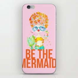 pink lemonade -- be the mermaid. iPhone Skin